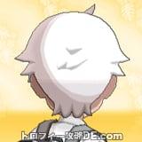 サンムーン男主人公の髪型ショート・髪色ホワイトの後ろ姿
