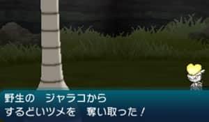 野生ポケモンから道具を盗む画像