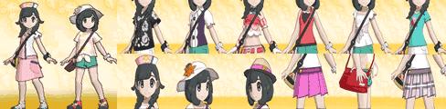 女の子の全服装、着せ替えアイテム一覧表TOP画像