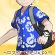 アローラシャツ・男(ビビッドネイビー)