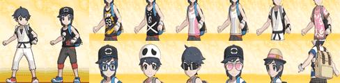 男の子の全服装、着せ替えアイテム一覧表TOP画像