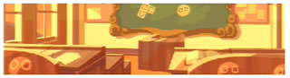 背景(夕方の教室)